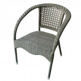 Стол 220 - сиво/бежов ратан