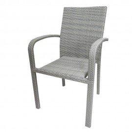 Стол 59 - сиво/бежов ратан