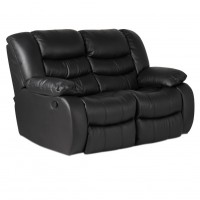 Кожен диван - двойка с релакс механизъм AMANDA