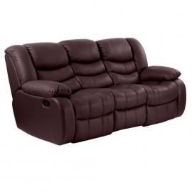 Кожен диван - тройка с релакс механизъм AMANDA