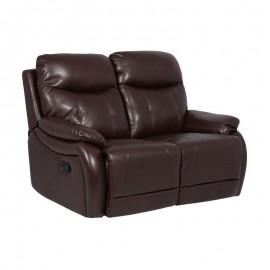 Кожен диван - двойка с релакс механизъм EROS