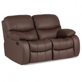 Кожен диван двойка с релакс механизъм Louisa