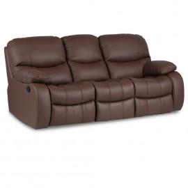 Кожен диван тройка с релакс механизъм Louisa