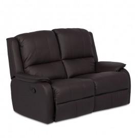 Кожен диван - двойка с релакс механизъм MAYA