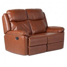 Кожен диван - двойка с релакс механизъм REYA