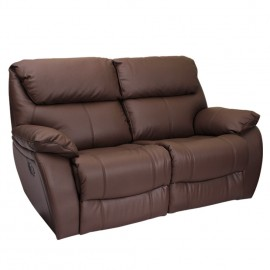 Кожен диван двойка с релакс механизъм SANDRA