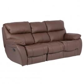 Кожен диван тройка с релакс механизъм SANDRA