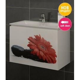 Долен шкаф за баня с мивка Принт