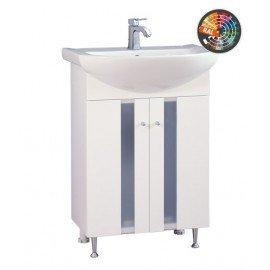 Долен шкаф за баня с мивка Флора