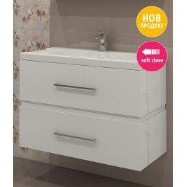 Долен шкаф за баня с мивка Степ