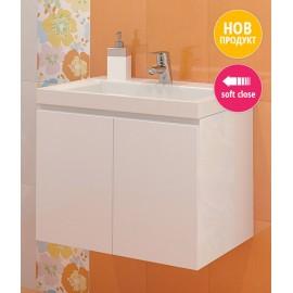 Долен шкаф за баня с мивка Еклипс