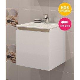 Долен шкаф за баня с мивка Изи