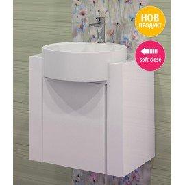 Долен шкаф за баня с мивка Кристин