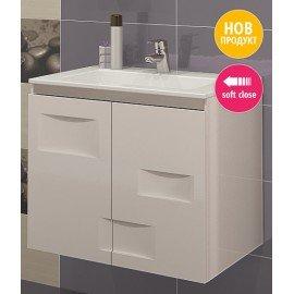 Долен шкаф за баня с мивка Лайт