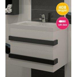 Долен шкаф за баня с мивка Омега